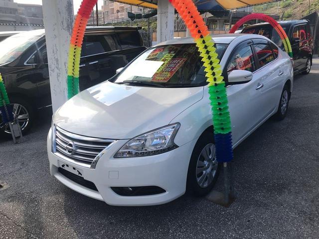 沖縄の中古車 日産 シルフィ 車両価格 74万円 リ済込 2013(平成25)年 7.5万km パール