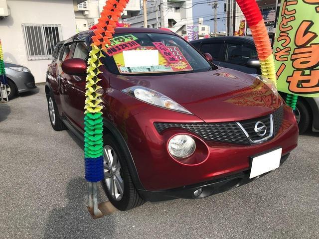 沖縄の中古車 日産 ジューク 車両価格 70万円 リ済込 2011(平成23)年 5.1万km レッド
