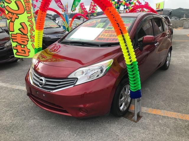 沖縄の中古車 日産 ノート 車両価格 75万円 リ済込 2013(平成25)年 7.3万km レッド