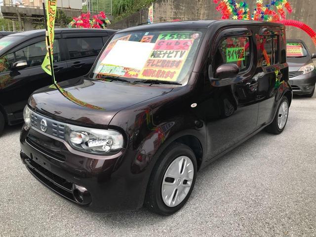沖縄県の中古車ならキューブ 15X 新品タイヤ 純正ナビ TV プッシュスタート