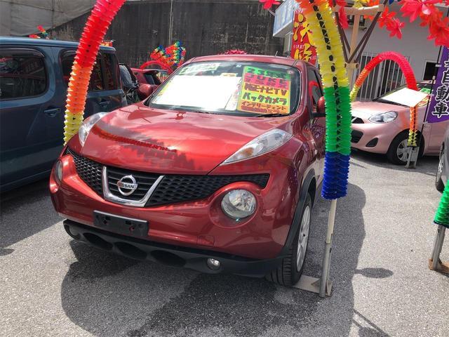 沖縄の中古車 日産 ジューク 車両価格 61万円 リ済別 2011(平成23)年 7.2万km ラディアントレッドPM