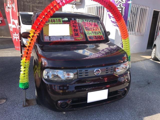 沖縄の中古車 日産 キューブ 車両価格 54万円 リ済別 2013(平成25)年 9.6万km ビターショコラP