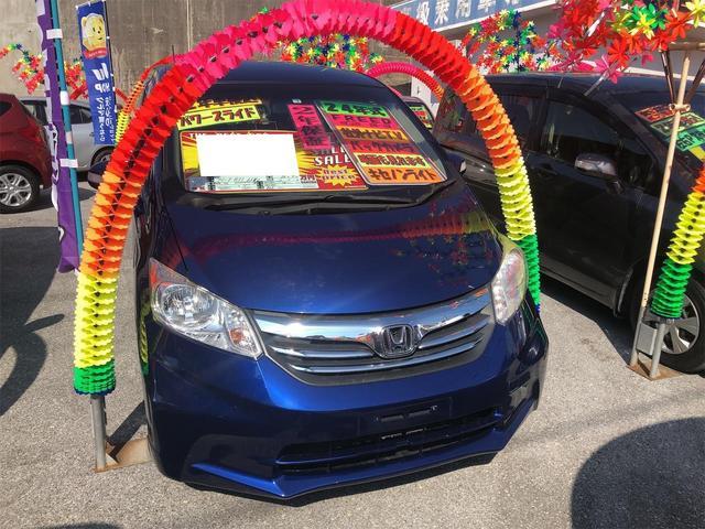 沖縄の中古車 ホンダ フリード 車両価格 69万円 リ済別 2012(平成24)年 8.7万km コバルトブルーパール