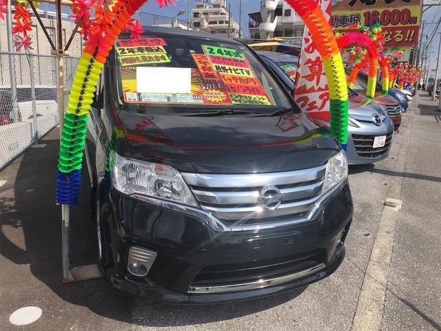 沖縄の中古車 日産 セレナ 車両価格 70万円 リ済別 2012(平成24)年 10.7万km スーパーブラック