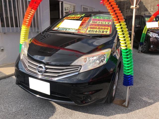 沖縄の中古車 日産 ノート 車両価格 54万円 リ済別 2013(平成25)年 6.8万km スーパーブラック