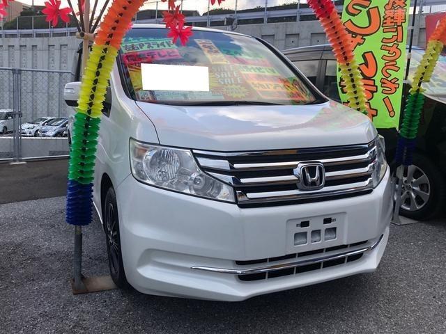 沖縄県の中古車ならステップワゴン G コンフォートセレクション 後席テレビ Bluetooth 両側電動ドア バックカメラ アルミホイル CD・DVD視聴可 ステアリングスイッチ