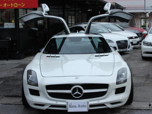 中頭郡北谷町 株式会社 ケンオート メルセデス・ベンツ M・ベンツ SLS AMG ベースグレード・ディーラー車・ガルウィング仕様・本土車 ホワイト 3.3万km 2013(平成25)年