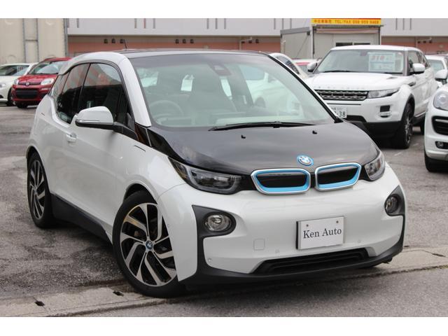 BMW i3 レンジ・エクステンダー装備車 ナビ ハーフレザーシート インテリジェントセーフティ 純正アルミ バックカメラ 電動格納ミラー クリアランスソナー・本土仕入