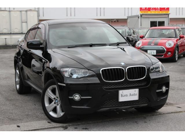 中頭郡北谷町 株式会社 ケンオート BMW X6 xDrive 35i 純正ナビ バックカメラ サイドカメラ レザーシート シートヒーター コーナーセンサー ディーラー車 ETC スマートキー 本土仕入 ブラック 4.5万km 2009(平成21)年