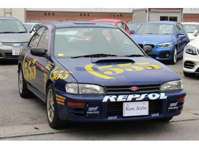 スバル インプレッサ WRX Vリミテッド 555台限定車 F5 社外マフラー メーター