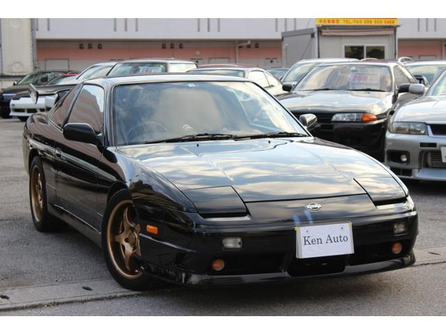 沖縄県の中古車なら180SX タイプII ブリッツエアクリ HKSマフラー FRタワーバー ターボタイマー 社外車高調 モモステ スペアキー