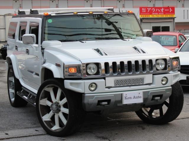 沖縄県の中古車ならハマーH2 ベースグレード サンルーフ 28AW 本土仕入れ