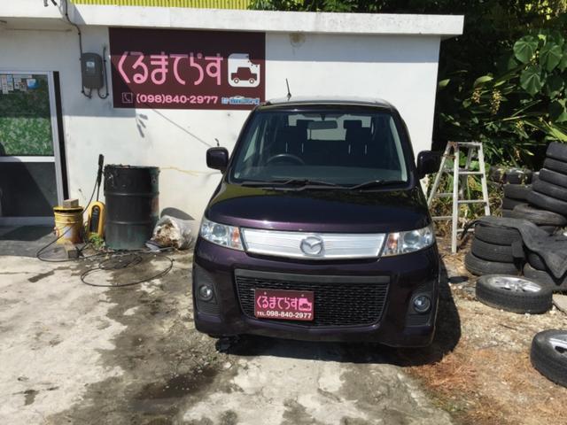 沖縄の中古車 マツダ AZワゴンカスタムスタイル 車両価格 24万円 リ済込 平成21年 14.1万km ワインM