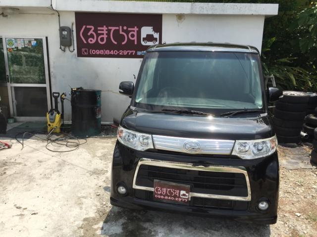沖縄の中古車 ダイハツ タント 車両価格 53万円 リ済込 平成23年 10.6万km ブラックM