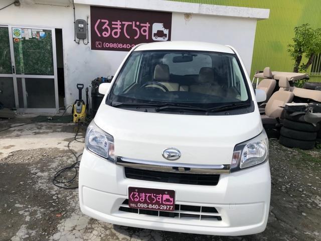沖縄の中古車 ダイハツ ムーヴ 車両価格 37万円 リ済込 平成25年 10.3万km ホワイト