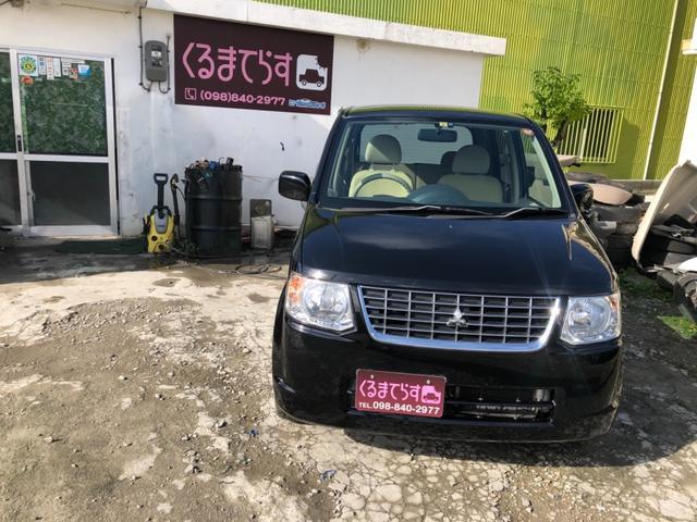 沖縄の中古車 三菱 eKワゴン 車両価格 28万円 リ済込 平成24年 10.2万km ブラック