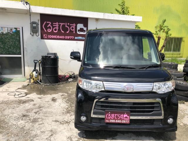沖縄県の中古車ならタント カスタムX パワスラ フルセグナビ 車検整備付き