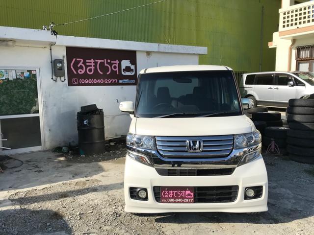 沖縄の中古車 ホンダ N-BOXカスタム 車両価格 75万円 リ済込 2012(平成24)年 9.0万km パールホワイト