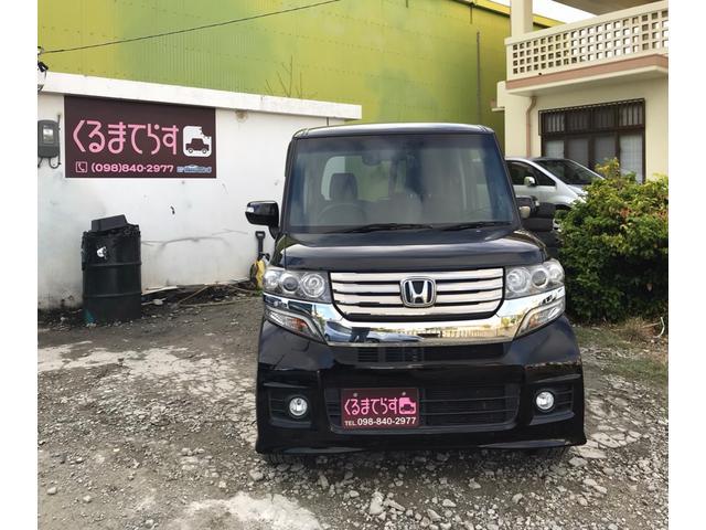 沖縄の中古車 ホンダ N-BOXカスタム 車両価格 75万円 リ済込 2012(平成24)年 8.7万km ブラックM