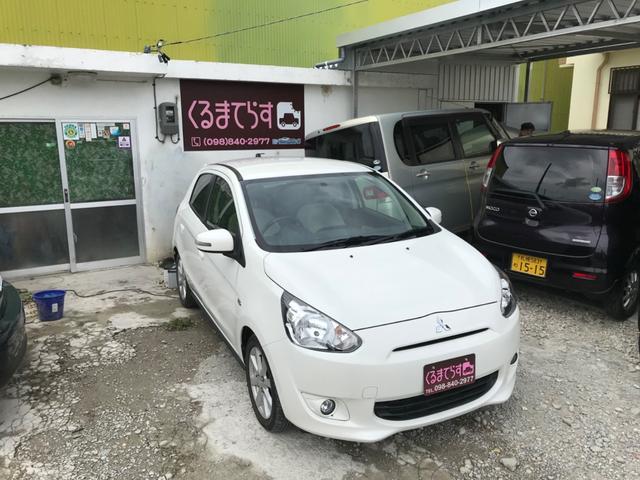 沖縄の中古車 三菱 ミラージュ 車両価格 47万円 リ済込 2015(平成27)年 2.2万km ホワイトM