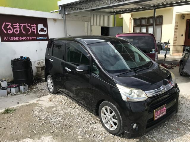 沖縄の中古車 ダイハツ ムーヴ 車両価格 34万円 リ済込 2012(平成24)年 11.6万km ブラックM