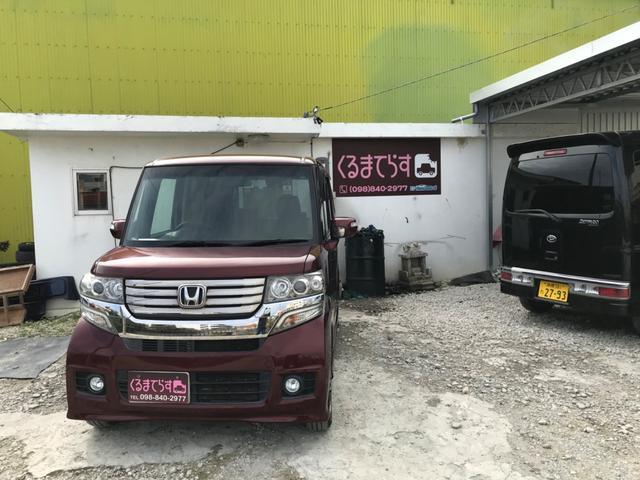 沖縄の中古車 ホンダ N-BOXカスタム 車両価格 69万円 リ済込 2013(平成25)年 9.6万km ワインM
