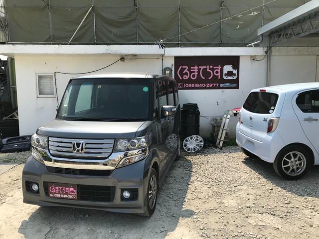 沖縄の中古車 ホンダ N-BOXカスタム 車両価格 53万円 リ済込 2013(平成25)年 12.4万km グレーM