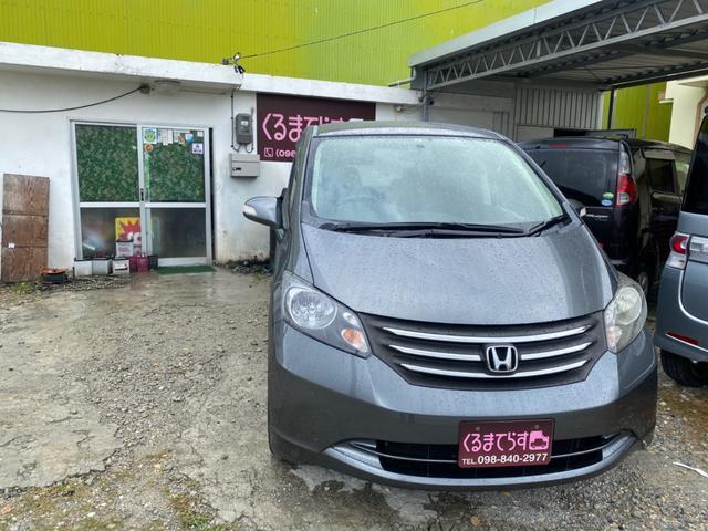 沖縄の中古車 ホンダ フリード 車両価格 24万円 リ済込 2009(平成21)年 14.3万km ダークグレーM