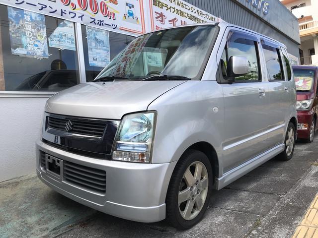沖縄の中古車 スズキ ワゴンR 車両価格 24万円 リ済込 平成17年 7.5万km シルキーシルバーメタリック