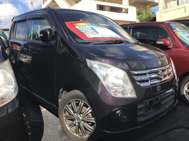 沖縄の中古車 スズキ ワゴンR 車両価格 24万円 リ済込 平成21年 14.0万km ミステリアスバイオレットパール