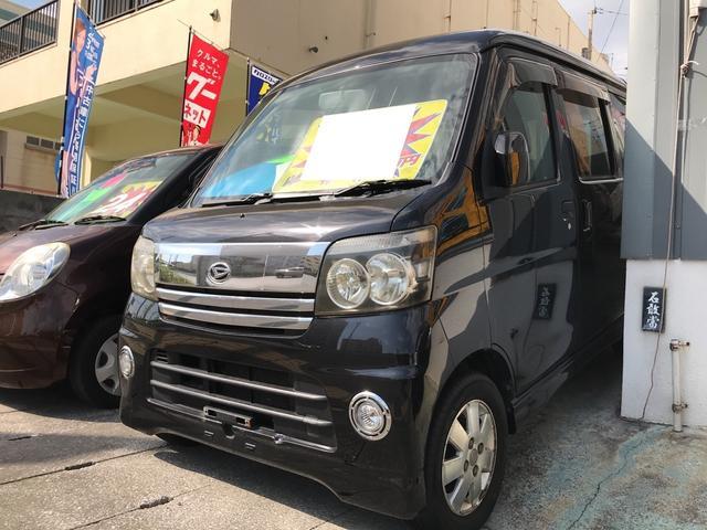 沖縄の中古車 ダイハツ アトレーワゴン 車両価格 39万円 リ済込 平成17年 11.9万km ブラックマイカ