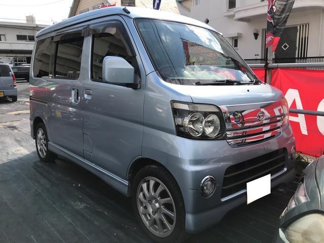 沖縄の中古車 ダイハツ アトレーワゴン 車両価格 39万円 リ済込 平成18年 14.4万km オーシャンブルーメタリック