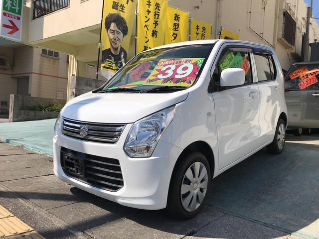 沖縄県の中古車ならワゴンR FX レザー調シートカバー アイドリングストップ