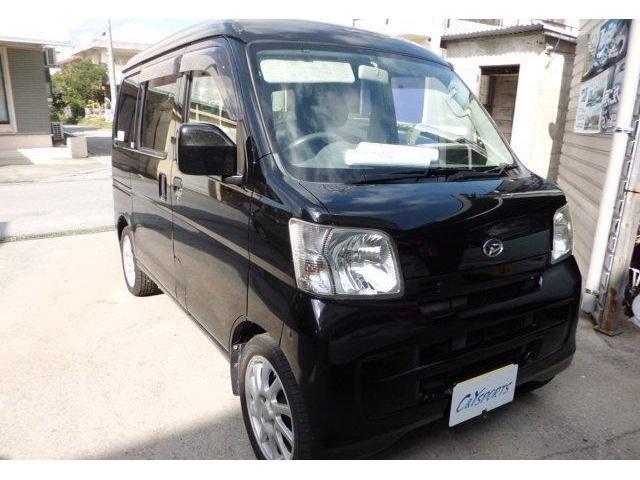 沖縄の中古車 ダイハツ ハイゼットカーゴ 車両価格 38万円 リ済込 2008(平成20)年 14.3万km ブラックM