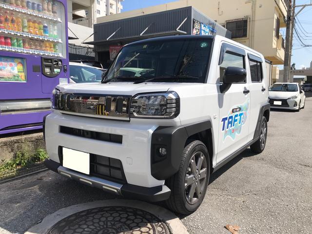 沖縄県沖縄市の中古車ならタフト Gターボ ガラスルーフ 純正9インチディスプレイモニター 衝突軽減システム