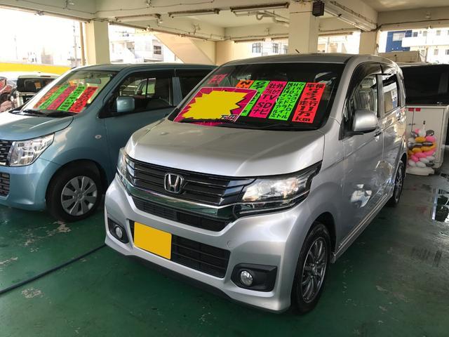 沖縄県の中古車ならN-WGNカスタム G・ターボパッケージ 社外フルセグSDナビ
