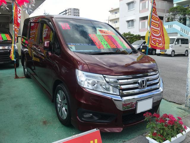 沖縄県の中古車ならステップワゴンスパーダ Z フルセグ9インチナビ