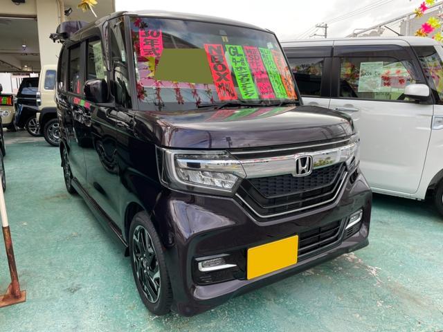 沖縄の中古車 ホンダ N-BOXカスタム 車両価格 139万円 リ済込 2018(平成30)年 4.9万km パープル