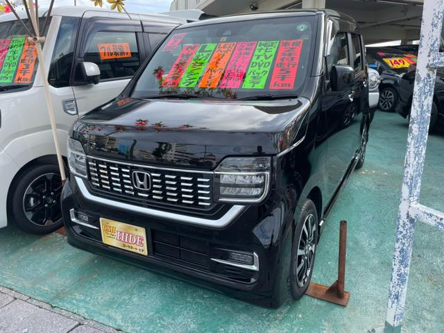 沖縄の中古車 ホンダ N-WGNカスタム 車両価格 133万円 リ済込 2020(令和2)年 0.6万km ブラック