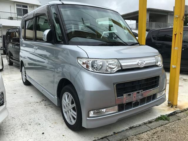 沖縄の中古車 ダイハツ タント 車両価格 49万円 リ済込 平成22年 12.4万km ブライトシルバーメタリック