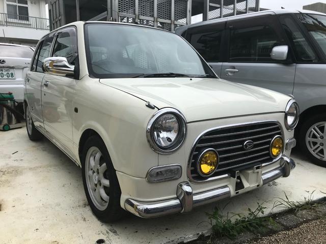 沖縄の中古車 ダイハツ ミラジーノ 車両価格 28万円 リ済込 平成13年 8.4万km パールホワイトI