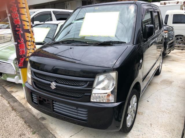 沖縄の中古車 スズキ ワゴンR 車両価格 28万円 リ済込 2008(平成20)年 7.9万km スパークブラックパール