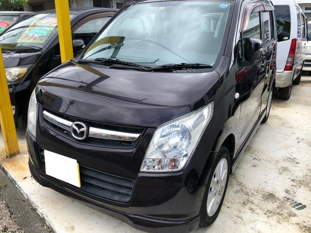 沖縄の中古車 マツダ AZワゴン 車両価格 25万円 リ済込 2009(平成21)年 10.6万km ワイン