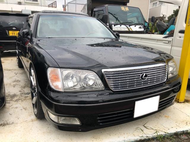 沖縄の中古車 レクサス LS400 車両価格 108万円 リ済込 1999(平成11)年 18.6万km ブラック