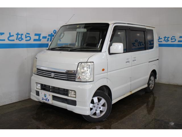 沖縄の中古車 スズキ エブリイワゴン 車両価格 43万円 リ済別 平成18年 9.9万km パールホワイト