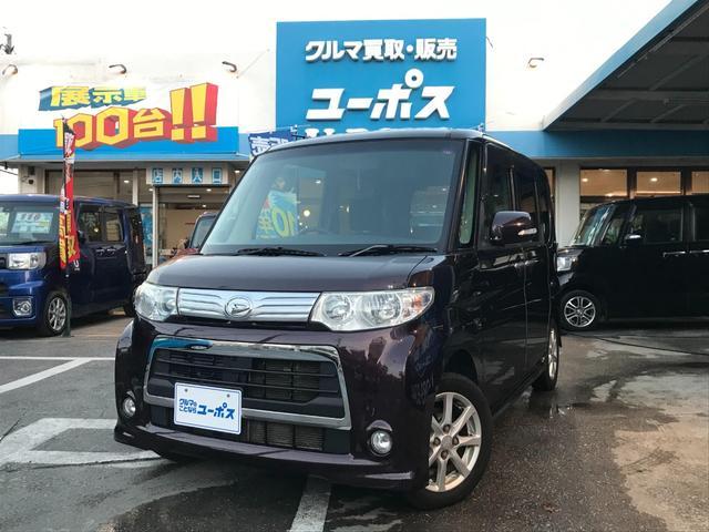 沖縄県の中古車ならタント カスタムX OP5年保証対象車 パワースライドドア ミラクルオープンドア ケンウッドディスプレイオーディオ