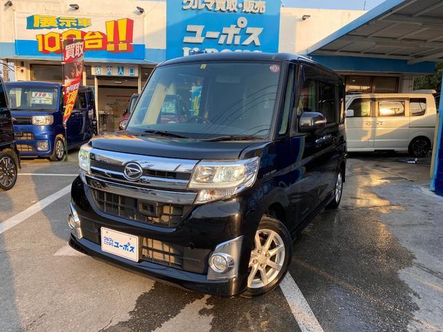 沖縄の中古車 ダイハツ タント 車両価格 73万円 リ済別 2014(平成26)年 8.3万km ブラック