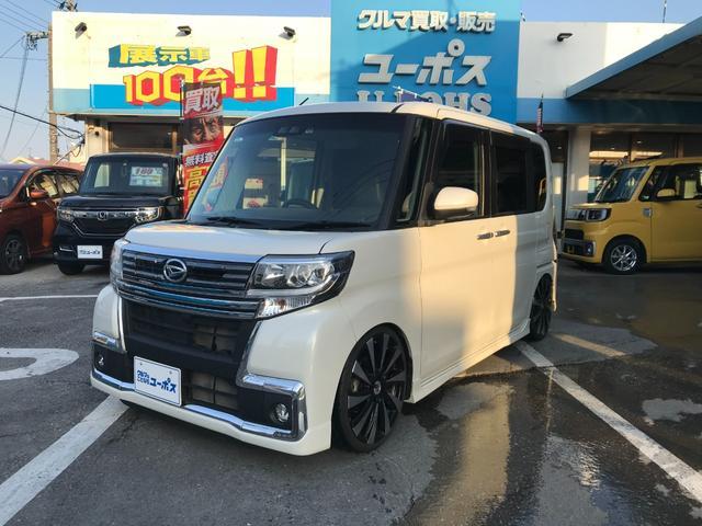 沖縄県の中古車ならタント カスタムRS トップエディションSAIII OP10年保証対象車 メモリーナビCD/DVD/Bluetooth機能 両側パワースライドドア 車高調
