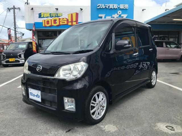 沖縄の中古車 ダイハツ タントエグゼ 車両価格 35万円 リ済別 2010(平成22)年 7.6万km ブラック