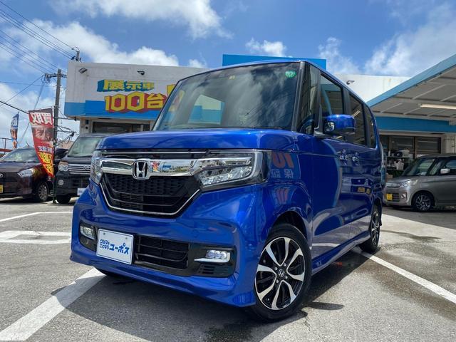 沖縄県の中古車ならN-BOXカスタム G・EXホンダセンシング OP10年保証対象車 メモリーナビ パワースライドドア バックモニター